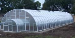 The greenhouse from polycarbonate