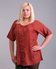 Блузка женская бордовая батал на 54-58 размеры