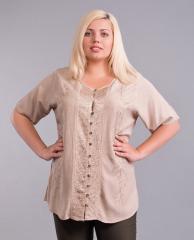 Блузка женская бежевая батал на 54-58 размеры