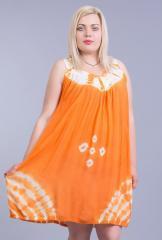 Сарафан - туника оранжевая на 44-62 размеры