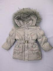 Beetle jacket for the girl down gray the I2271 E
