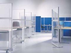 Partitions office transparent of polycarbonate
