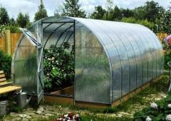 Greenhouses of the mini-greenhouse under a film