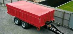 Awning - a cape on the grain-carrier, the dump