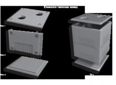 Элементы тепловых камер, ТК-2, ТК-4, ТК-6,ТК-8,