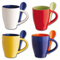 Cups souvenir press of logos