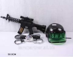Военный набор 704 автомат,шлём,наручники,в сетке