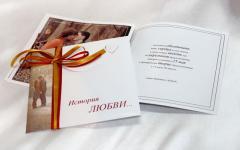 Business cards, leaflets, booklets, wedding