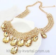 Ожерелье с камнями Брызги шампанского tb726