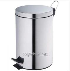 The bucket from stainless steel with a pedal