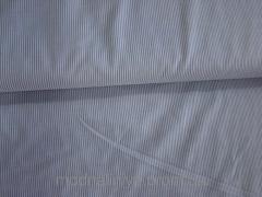 Ткань рубашечная (белая в мелкую серую полоску)