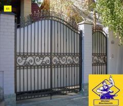 Ворота распашние модель  65