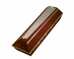 Гроб шелковый бордовый