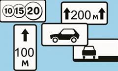 Таблички дорожные  350*1050 мм