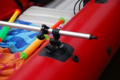 Монтажная ПВХ площадка 140х140 мм для установки замка на надувной борт