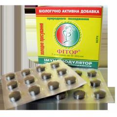 Биоактивная добавка Фитор в форме таблеток 12 шт.