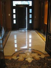 Підлоги мозаїчні, Мармур полірований