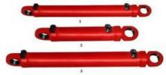 Гидроцилиндр опрокидывания ковша погрузчика Т-156 Б, Гц 125. 63Х400. 11