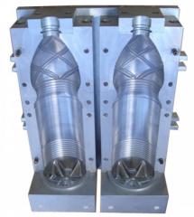 Compression molds for a vyduv of bottles
