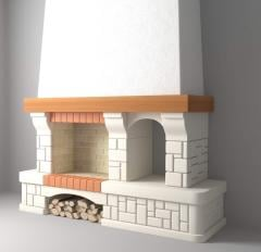 Chimney portal in Country style the Europe + Model
