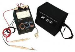 The megohm meters ES0210, ES0210-G Execution of
