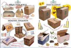 Пищевая упаковка из гофрокартона для: печенья,