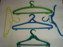 Плечики для одежды, вешалки пластиковые 5 видов.