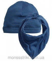 Шапка и шарф для мальчика 2-6, 6-12 месяцев
