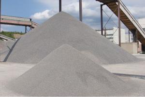 Elimination granite fraction of 0-5 mm first