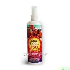 Children's waterproof spray for safe suntan