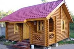 Saunas wooden of the rounded log from the