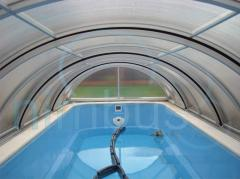 We offer sliding pavilions for pools of any