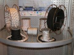 Cord kapron high-strength with kevlar filling