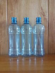 PET container 0.5 liters. Bottles are polyethylene