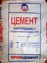 Цемент (портландцемент) марки ПЦ II/Б-Ш-400 (ПЦ-2/Б-Ш-400, ПЦ Б-400) в мешках по 50 кг, с сертифицированного склада в г. Донецке.