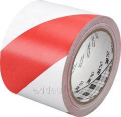 Лента сигнальная (красно-белая) 75 мм х 100