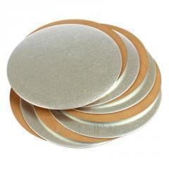 Подложка картонная (серебро/золото/черная/белая)