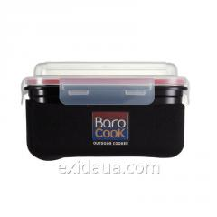 Double boiler of Barocook Dome of black, 850 ml