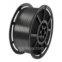 Tape packaging polypropylene 16 x 1,0 black