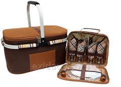 Набор для пикника +  изотермическая сумка Time Eco, арт, TE-432 BS, 32 л