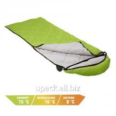 Sleeping bag Peak Camping lime with a hood