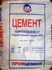 Цемент (шлакопортландцемент, портландцемент с добавками шлака) марки ШПЦ III/А-400 (ШПЦ 3/А-400) в мешках по 50 кг, с сертифицированного склада в г. Донецке