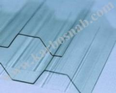 Wavy Marlon CS polycarbonate transparent with a
