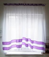 """Кухонні штори """"Полоса"""" (фіолет)"""