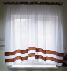 """Кухонні штори """"Полоса"""" (коричневі)"""