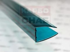 U - profile of face 2100 x 4 mm green with UF