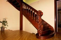 Лестницы на прямых косоурах