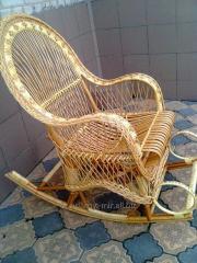 Кресло- качалка , кресло - качалка из лозы