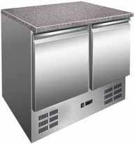 Refrigerating table with granite table-top