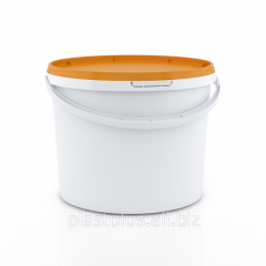 Bucket of 5 l round with the orange cover